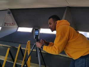Pitzman's Co 3D Laser Scanning the Observation Deck.